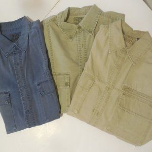 Mens  Cargo Shirts Size S Faded Glory set of 3